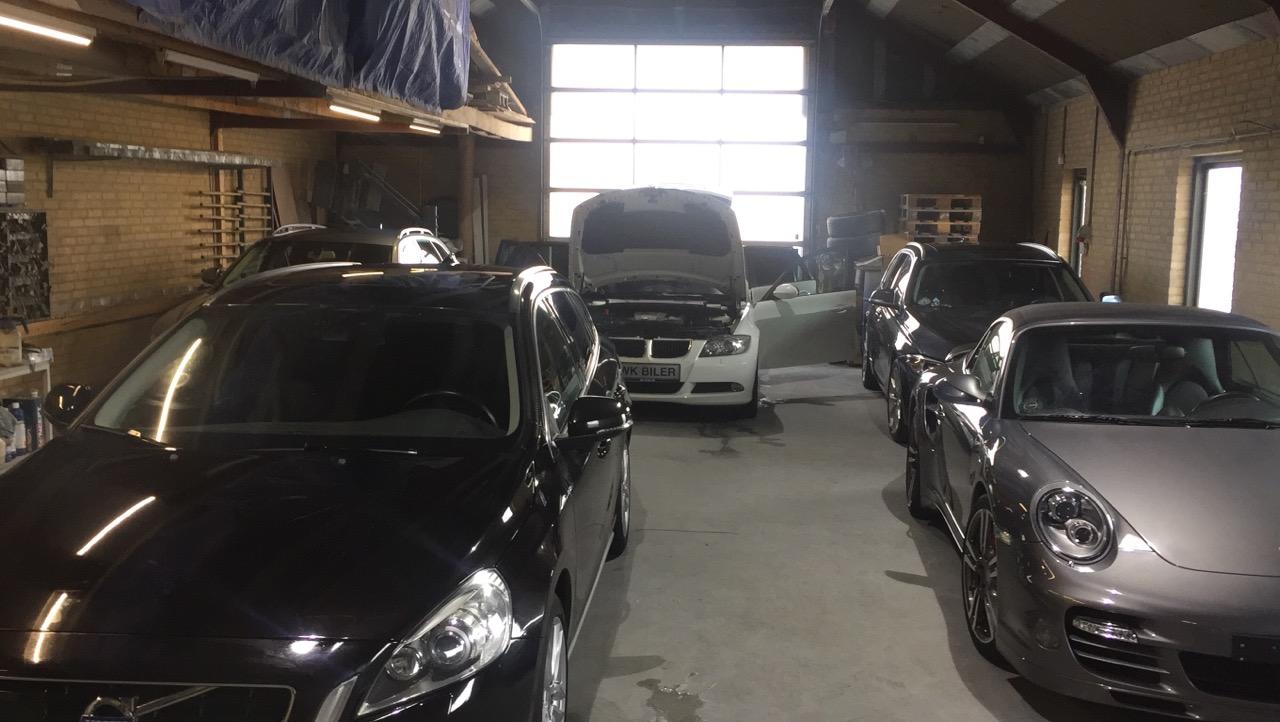 Biler til klargøring